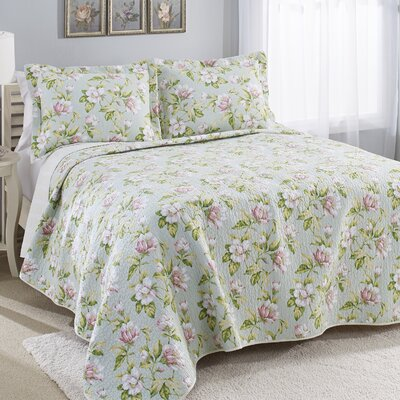 100% Cotton Reversible Quilt Set Size: King