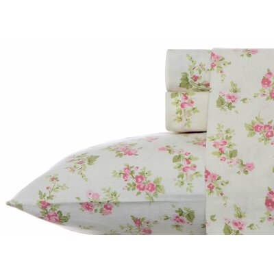 Audrey Flannel Sheet Set by Laura Ashley Size: Queen