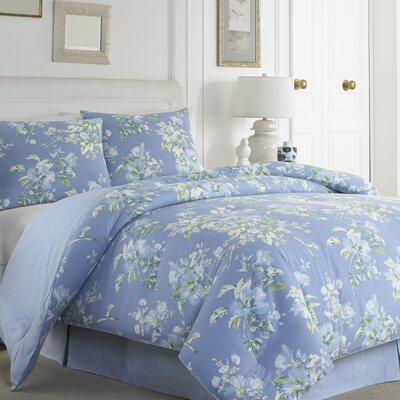 Spencer Periwinkle 3 Piece Comforter Set Size: King