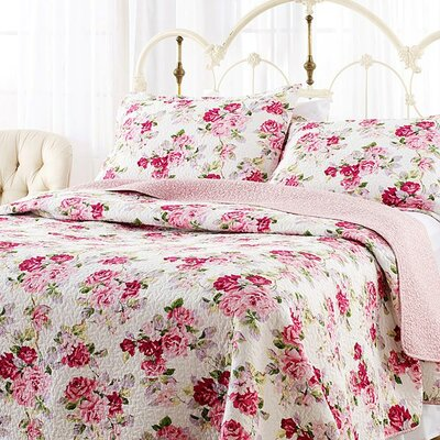 Laura Ashley Lidia Reversible Quilt Set Size: Full/Queen