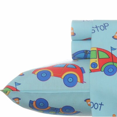 Car Flannel Sheet Set Size: Full