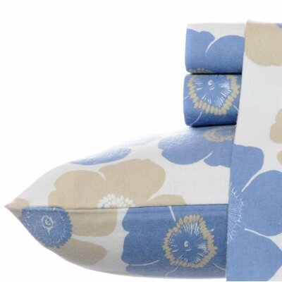 Poppy Bloom 100% Cotton Sheet Set Size: Queen