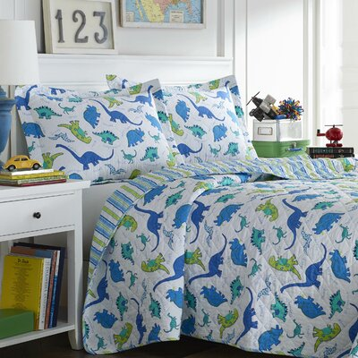 Dinosaurs Quilt Set by Laura Ashley Home Size: Twin