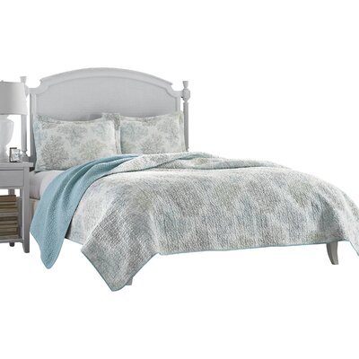 Saltwater Cotton Reversible Coverlet Set Size: Full / Queen