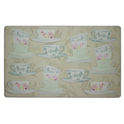 Tea Party Kitchen Mat Color: Taupe