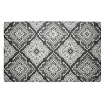 Allie Kitchen Mat Color: Grey