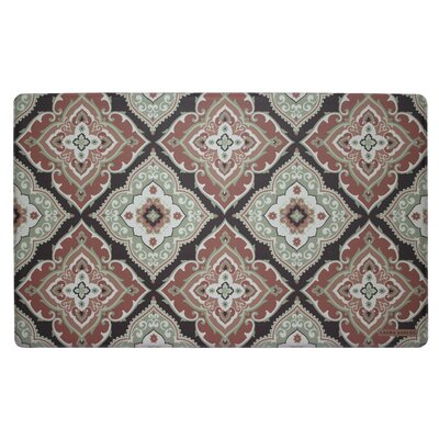 Allie Kitchen Mat Color: Rust