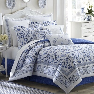Charlotte Reversible Comforter Set by Laura Ashley Home Size: Queen