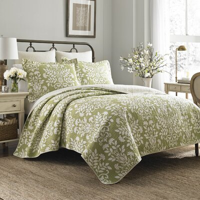 Rowland 100% Cotton Sham Set by Laura Ashley Home Color: Green