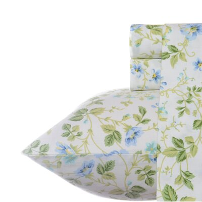 Spring Bloom 300 Thread Count 100% Cotton Sheet Set Size: Queen