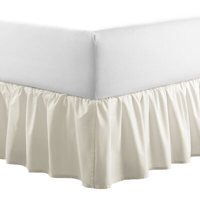 Solid 100% Cotton Panel Bed Skirt by Laura Ashley Home Size: Queen, Color: Ivory
