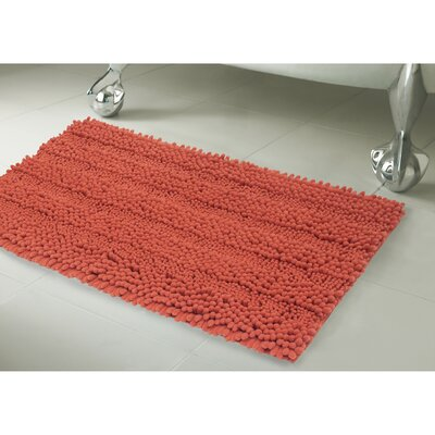 Astor Bath Rug Size: 20 X 34, Color: Coral
