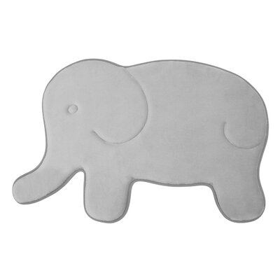 Elephant Memory Foam Bath Mat Color: Gray