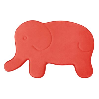 Elephant Memory Foam Bath Mat Color: Coral