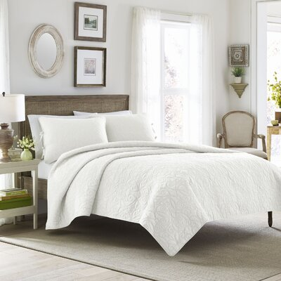Felicity Quilt Set by Laura Ashley Home Size: King, Color: White