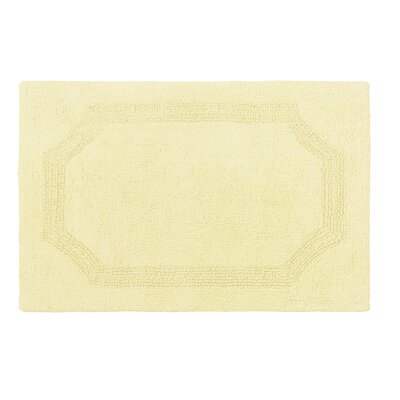 Reversible Bath Rug Color: Yellow, Size: 21 L x 34 W