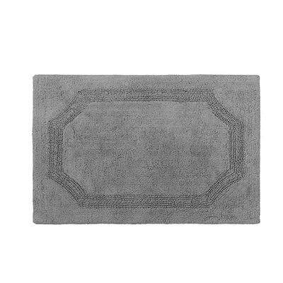 Reversible Bath Rug Color: Charcoal, Size: 21 L x 34 W
