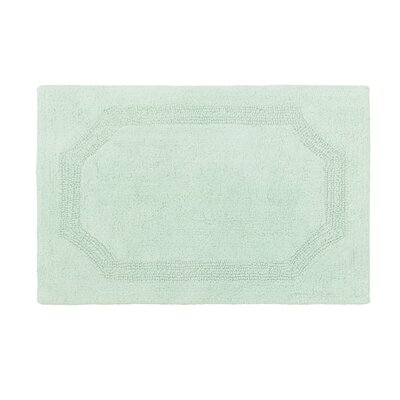 Reversible Bath Rug Color: Aqua, Size: 21 L x 34 W
