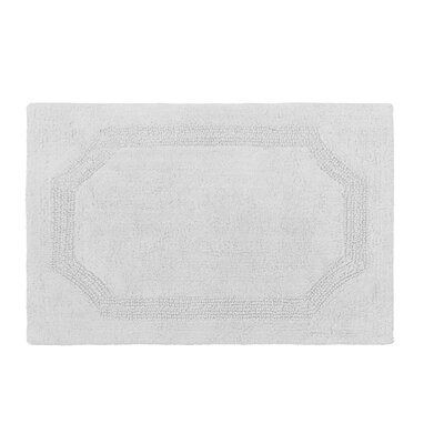 Reversible Bath Rug Color: Light Gray, Size: 21 L x 34 W