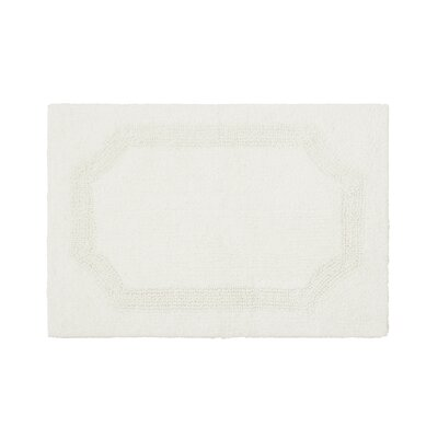 Reversible Bath Rug Color: White, Size: 17 L x 24 W