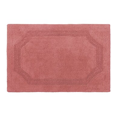 Reversible Bath Rug Color: Coral, Size: 17 L x 24 W