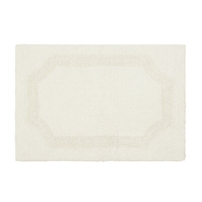 Reversible Bath Rug Color: Ivory, Size: 17 L x 24 W
