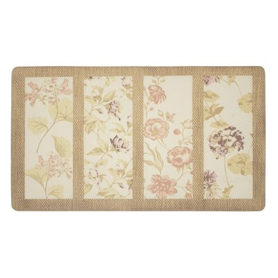 Flower Seeds Kitchen Mat