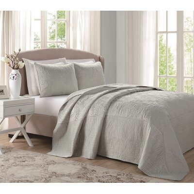 Classic Silk & Satin Quilt Size: Queen, Color: Sage