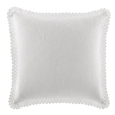 Crochet Cotton Throw Pillow by Laura Ashley Home Color: White