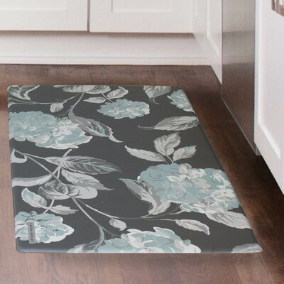 Hydrangea Kitchen Mat Color: Duck Egg Blue