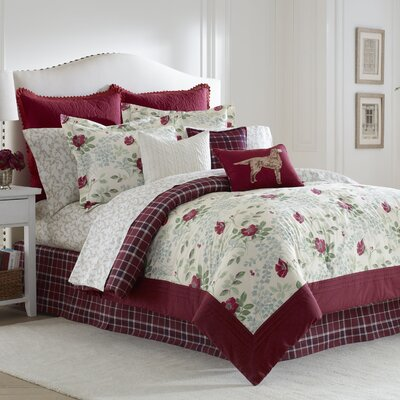 Ella 4 Piece Reversible Comforter Set by Laura Ashley Home Size: Queen