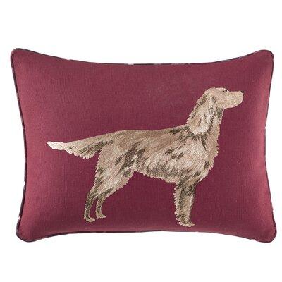 Ella Embroidered Dog Decorative Lumbar Pillow