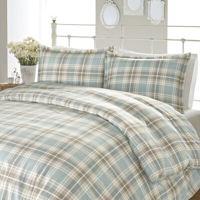 Cranbourne Plaid Flannel Sheet Set Size: King