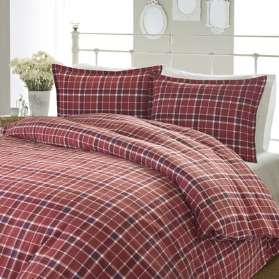 Highland Check 3 Piece Reversible Duvet Set Size: Full/Queen