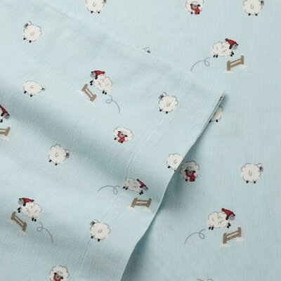 Winter Sheep Flannel Sheet Set Size: Full