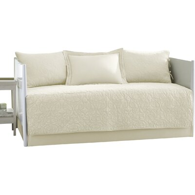 Felicity 5 Piece Reversible Daybed Set Color: Ivory