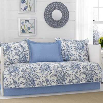 Bedford 5 Piece Daybed Set by Laura Ashley Home Color: Blue/White