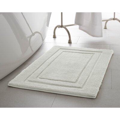 Pearl Double Border Bath Mat Size: 17 x 24, Color: Cream Puff