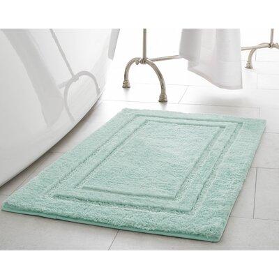 Pearl Double Border Bath Mat Size: 20 x 32, Color: Sea Foam