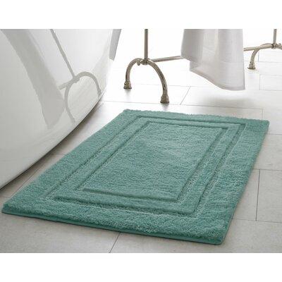 Pearl Double Border Bath Mat Size: 17 x 24, Color: Lake Blue