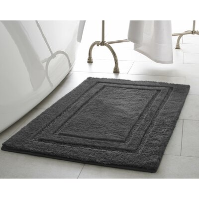 Pearl Double Border Bath Mat Size: 20 x 32, Color: Gray Street