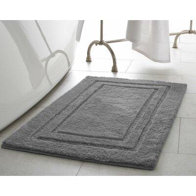 Pearl Double Border Bath Mat Size: 20 x 32, Color: Light Grey