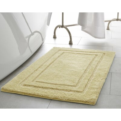 Pearl Double Border 2 Piece Bath Mat Color: Banana