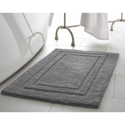Pearl Double Border Bath Mat Color: Light Grey