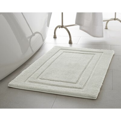 Pearl Double Border Bath Mat Color: Cream Puff