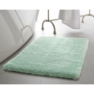 Pearl Plush Bath Mat Size: 17 x 24, Color: Sea Foam
