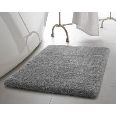 Pearl Plush Bath Mat Color: Light Gray, Size: 20 x 32