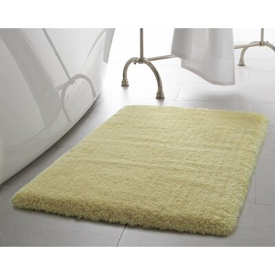Pearl Plush Bath Mat Size: 17 x 24, Color: Banana