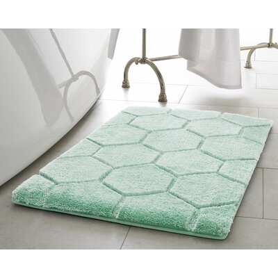 Pearl Honeycomb Bath Mat Size: 17 x 24, Color: Sea Foam
