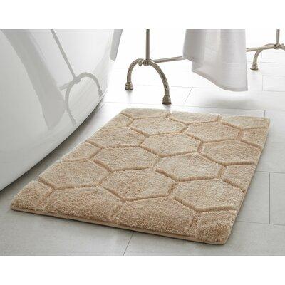 Pearl Honeycomb Bath Mat Size: 17 x 24, Color: Berber